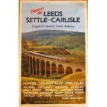 Double Royal railway poster. DISCOVER LEEDS SETTLE - CARLISLE. ENGLANDS GREATEST SCENIC RAILWAY.
