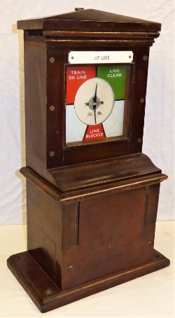 Midland Railway receiver Block Instrument. Complete with UP LINE traffolite label and in good