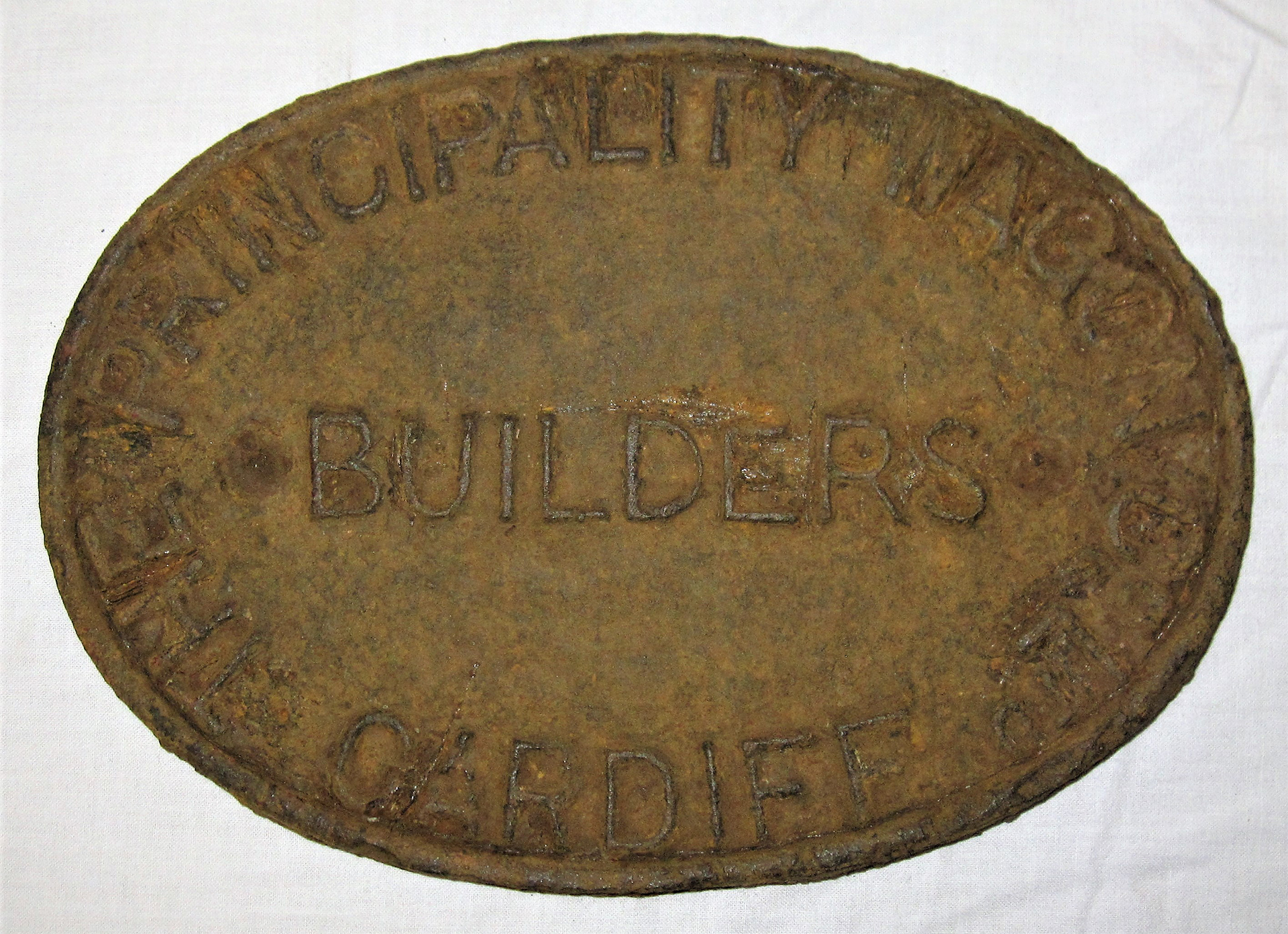 Cast Iron Wagon Plate. THE PRINCIPALITY WAGON Co CARDIFF An early wagon plate from a Welsh Company