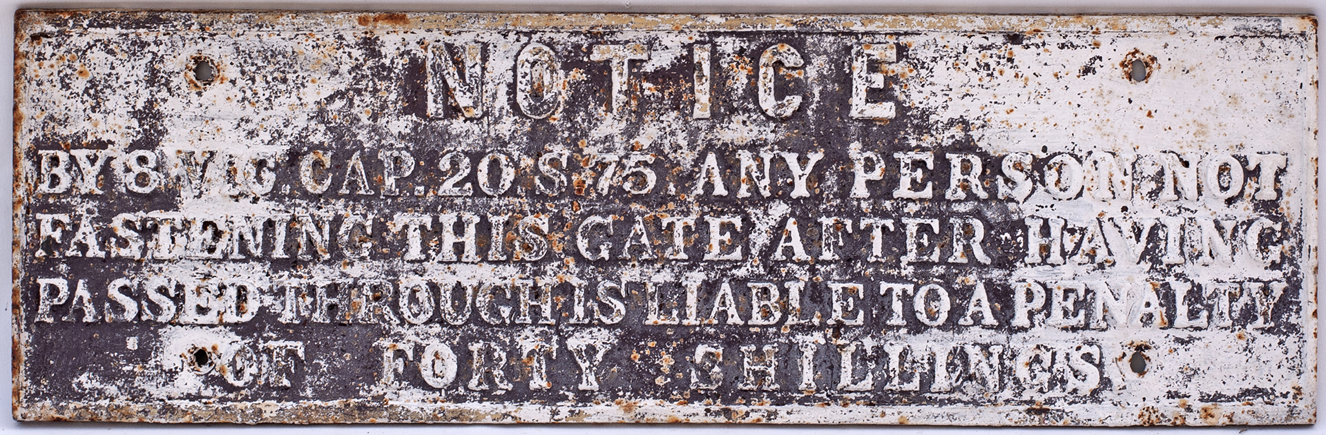 GWR Pre grouping Cast Iron Gate Notice.