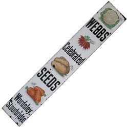 Advertising enamel sign WEBB'S CELEBRATED SEEDS WORDSLEY STOURBRIDGE. Pictorial showing cauliflower,