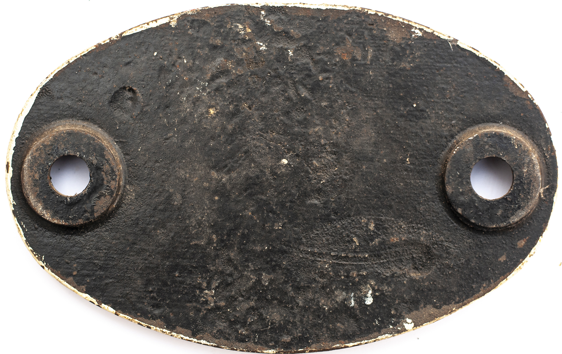 Shedplate 89D Oswestry 1961-1963. Face restored, rear original with clear Swindon casting marks in - Image 2 of 2
