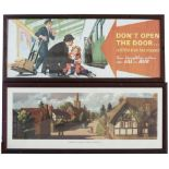 Carriage Prints x 2 BREDON VILLAGE, WORCESTERSHIRE by Ronald Lampitt from the London Midland C