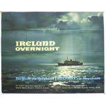 Poster BR(M) IRELAND OVERNIGHT DUBLIN VIA HOLYHEAD BELFAST VIA HEYSHAM by Claude Buckle. Quad