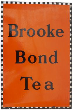 Advertising enamel sign BROOKE BOND TEA. In excellent condition measures 30in x 20in.