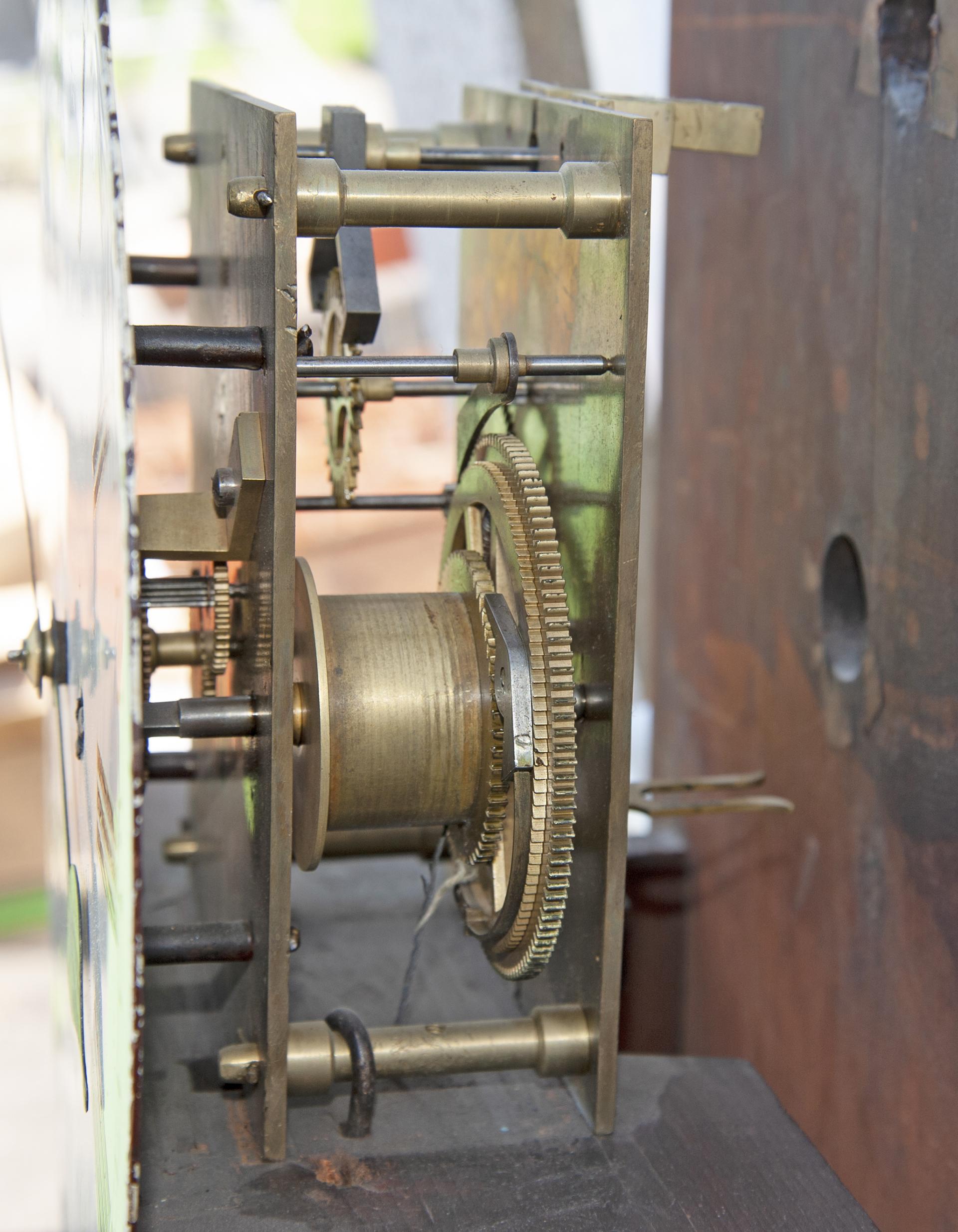 North British Railway 12in dial mahogany cased regulator railway wall clock. The rectangular - Image 2 of 2