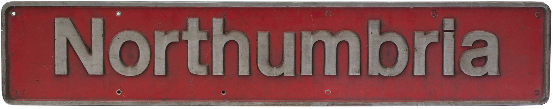 Nameplate NORTHUMBRIA ex British Railways class 47 diesel 47405. Built by Brush Works and introduced