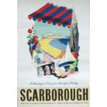 Poster SCARBOROUGH A WONDERFUL PLACE FOR A WONDERFUL HOLIDAY by Nevin issued by the Tourist Board.