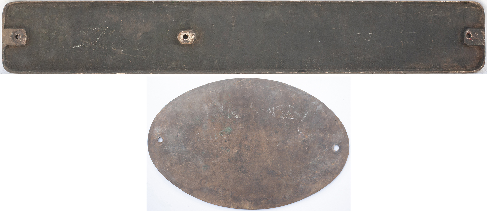 Nameplate WELDLESS together with its worksplate R&W HAWTHORN LESLIE & CO LTD ENGINEERS NEWCASTLE - Image 2 of 2