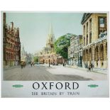 Poster BR(W) OXFORD by A. Carr Linford. Quad Royal 50in x 40in. In very good condition with minor