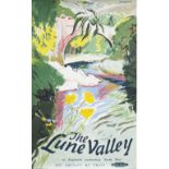 Poster BR(M) THE LUNE VALLEY by Brookshaw. Double Royal 25in x 40in. In very good condition with a