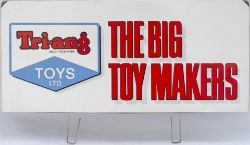 Advertising display stand board TRIANG TOYS LTD THE BIG TOY MAKER. Lithographed tinplate complete