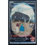 Poster LNER THE BOOKLOVERS BRITAIN YARMOUTH by Austin Cooper. Double Royal 25in x 40in. In very good