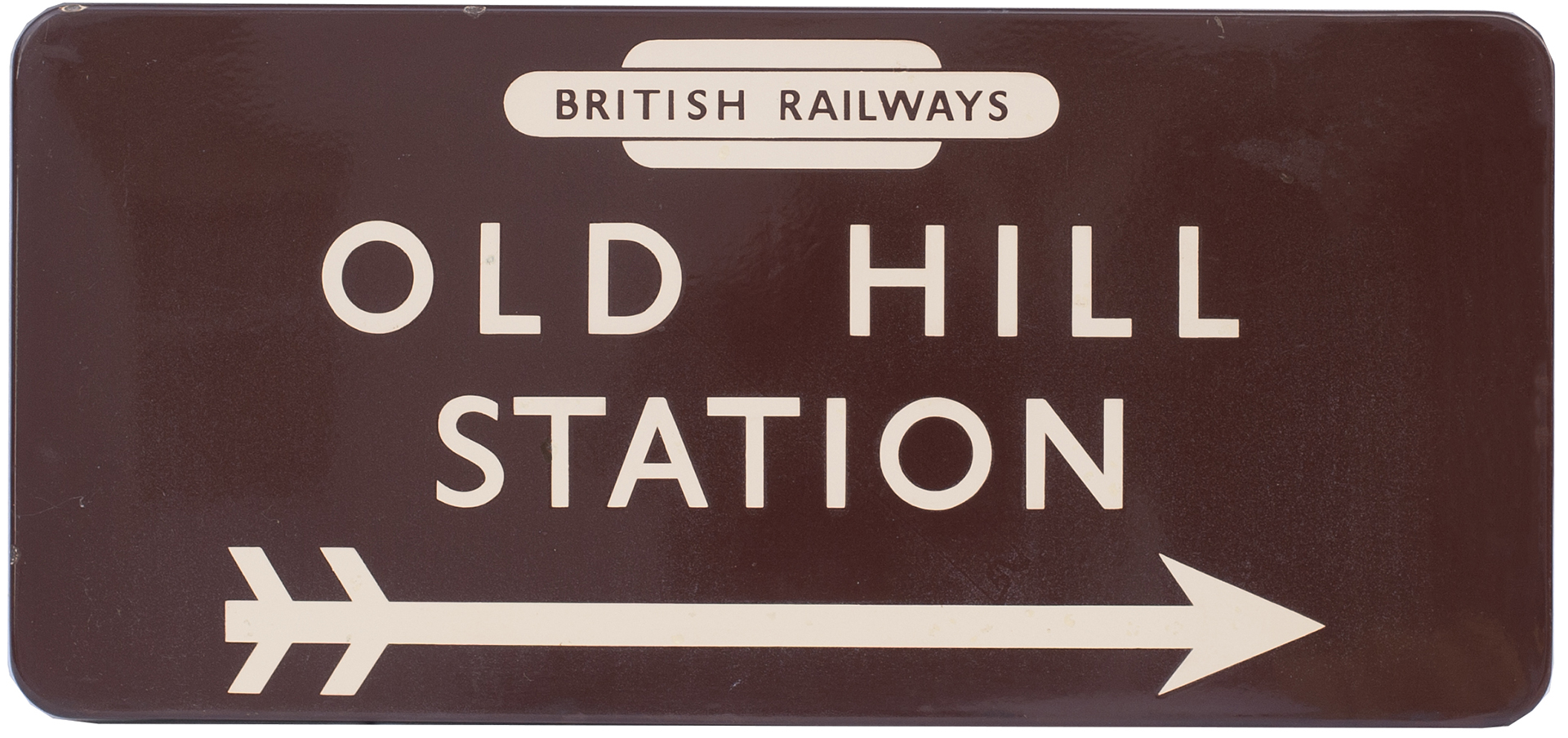 BR(W) FF enamel station direction sign BRITISH RAILWAYS in totem OLD HILL STATION with right