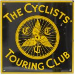 Advertising enamel sign THE CYCLISTS TOURING CLUB. In very good condition with minor face