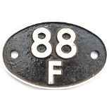 Shedplate 88F Treherbert 1950-1967 with sub sheds Pwllyrhebog to 1951 and Ferndale to 1964. Face