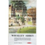 Poster BR(M) WHALLEY ABBEY by Greene. Double Royal 25in x 40in. In very good condition, has been