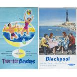 Poster BR(M) THORNTON CLEVELEYS ON THE LANCASHIRE COAST by Reginald Lander. Double Royal 25in x