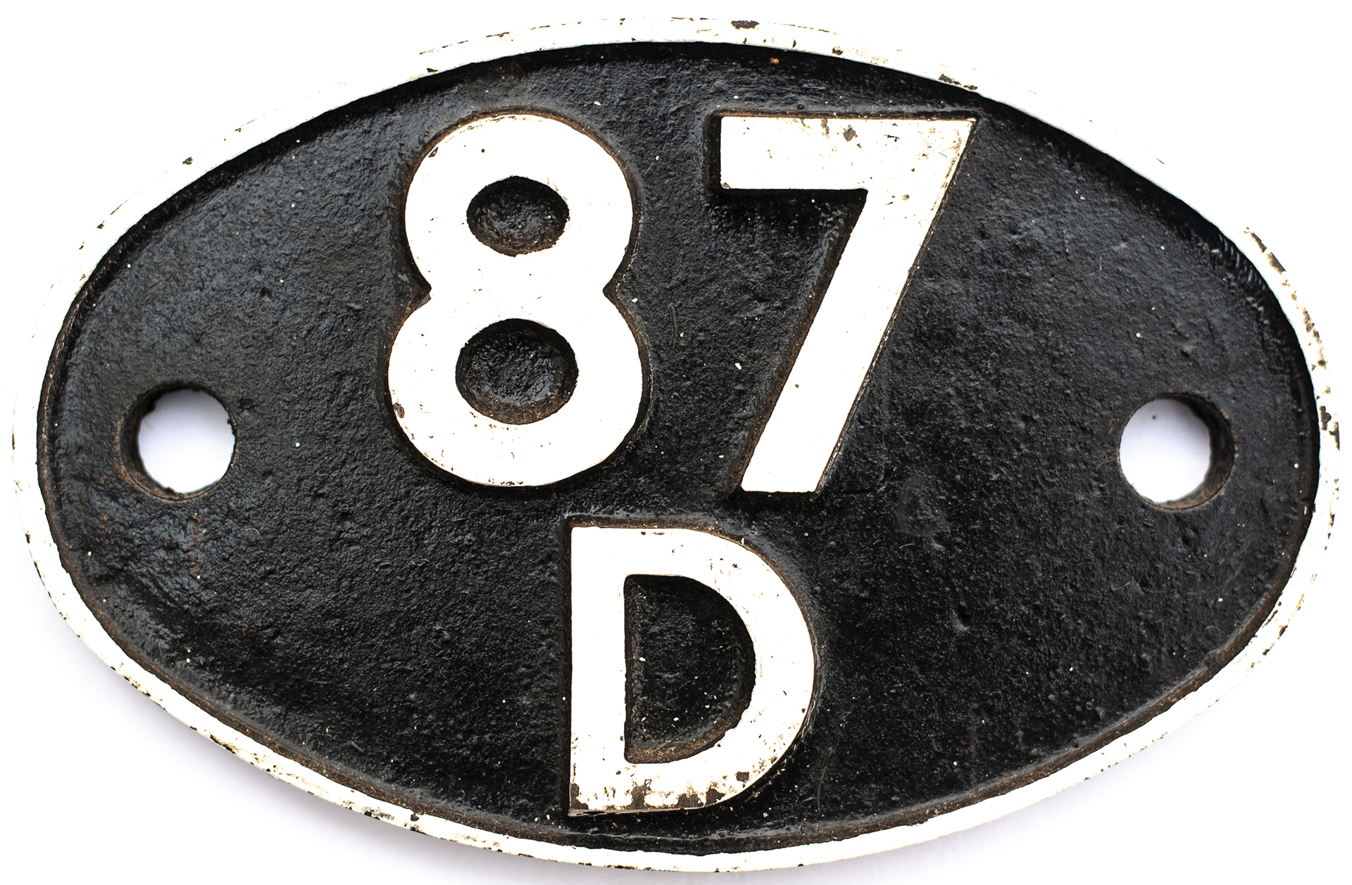 Shedplate 87D Swansea East Dock 1950-1964 with sub sheds Gurnos and Upper Bank 1959–1962. Face