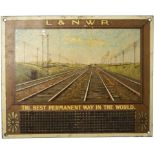 L&NWR lithographed tinplate Cigar/Cigarette stubber. L&NWR THE BEST PERMANENT WAY IN THE WORLD. In