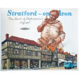 Poster BR(W) STRATFORD-ON-AVON THE HEART OF SHAKESPEARES ENGLAND by Frank Newbould. Quad Royal