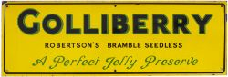 Advertising enamel sign GOLLIBERRY ROBERTSON'S BRAMBLE SEEDLESS A PERFECT JELLY PRESERVE. In very