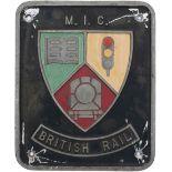 Nameplate badge for Mutual Improvement MIC BRITISH RAIL ex British Railway diesel class 56 56101.