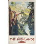 Poster BR(SC) BY RAIL TO THE HIGHLANDS MONESSIE GORGE, INVERNESS-SHIRE SCOTLAND by Terence Cuneo.