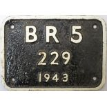 Tenderplate BR 5 229 1943 ex Riddles WD 2-8-0 Austerity built by The North British Locomotive