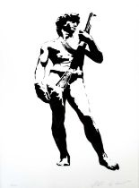 Blek le Rat (French Contemporary) David with Kalashnikov