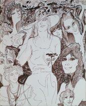 Gabriel Coldefy (French 1911-1988) Female Studies