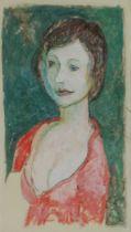 John Doubleday (British b.1947) Portrait of Fiona