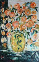 Tania Gordon (Russian 20th Century) Still Life Orange Flowers in Vase