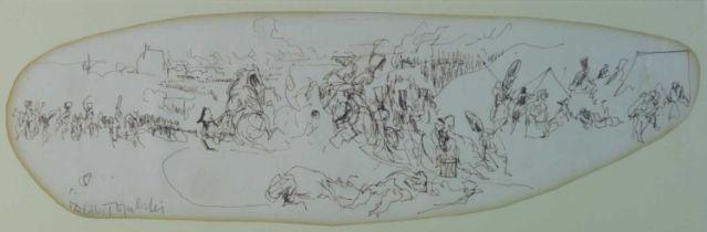 Felix Topolski (Polish-British 1907-1989) Sketch for War and Peace