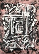 George Holt (British 1924-2005), Four Abstract Mixed Media Works