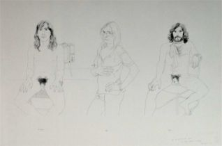 David Hockney (British b.1937) Richard, Jim, Felix for Oz Obscenity Fund