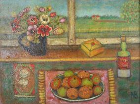 Norman Bray (British 20th Century) Still Life on the Windowsill