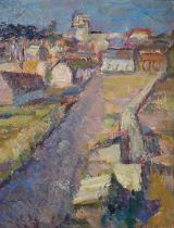 Peggy Somerville (British 1918-1975) Alderburgh from Shaugndon