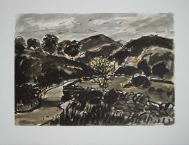 Two Welsh School Lithographs including Kyffin Williams (1918-2006) Nanmor