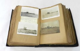 POSTCARD ALBUM OF WARSHIPS, 261 real photograph postcards of warships, destroyers, submarines and