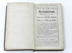 BENNET, Benjamin, A Memorial of the Reformation and of Britain's Deliverances from Popery and