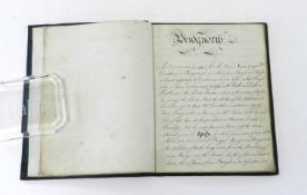 BRIDGNORTH MANUSCRIPT. Small 4to. Manuscript copy of the Bridgnorth and Wenlock parts of the