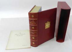 WILSON, Sir John, Bt., The Royal Philatelic Collection, Dropmore Press, 1952. Folio, red morocco