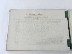 MANUSCRIPT. A Tramp from Great Malvern to Crewe in September 1867. Landscape folio. Title and 31