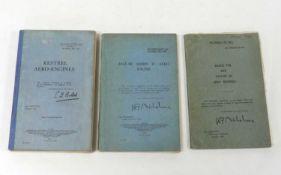 HANDBOOKS FOR KESTREL AERO-ENGINES, 1st edn. Dec. 1931; Jaguar Series IV Aero Engine, 2nd edn. May