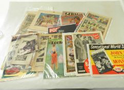 EPHEMERA. A quantity of ephemera including exhibition catalogues, estate agents brochures, country