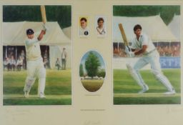 A Chelsea Green Editions cricketing print
