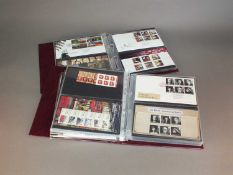 A collection of stamp albums