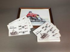 A collection of approximately 200 Royal Mint Motor Cycle covers