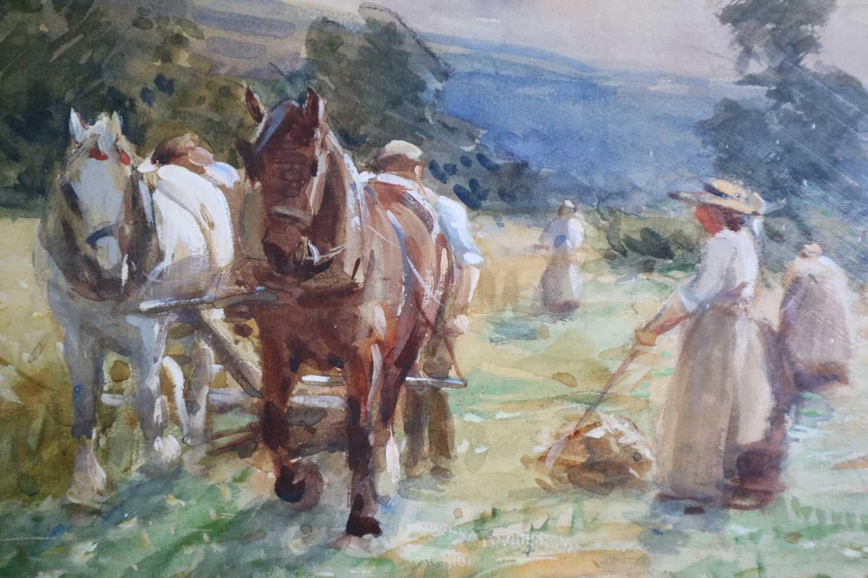 John Atkinson (1863-1924) Haymaking - Image 4 of 4